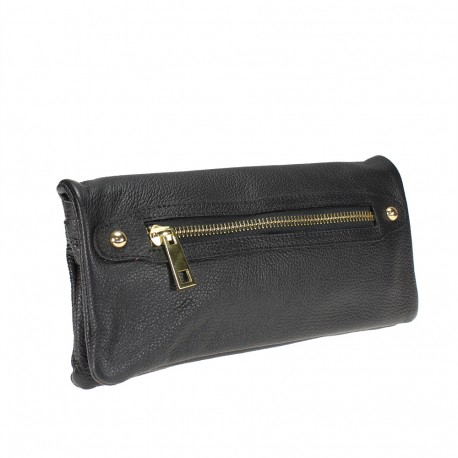 Clutch bag with shoulder strap