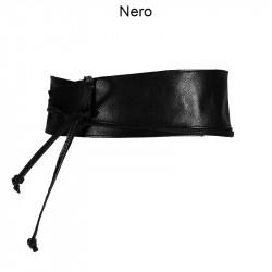 Cintura a fascia in pelle
