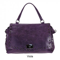 leather bag with black studs