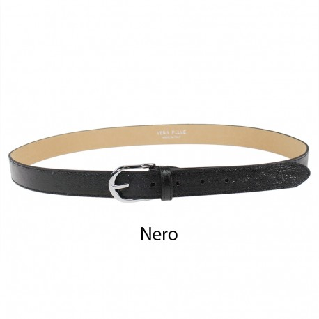 Belt in laminated leather