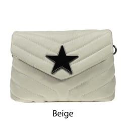 Shoulder bag in quilted leather - STELLA