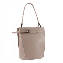 bucket leather handbag
