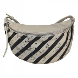 Striped printed belt bag