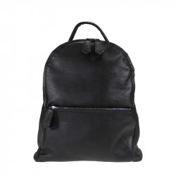 Large multipocket soft leather backpack