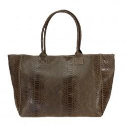 Large shoulder shopping bag with zip