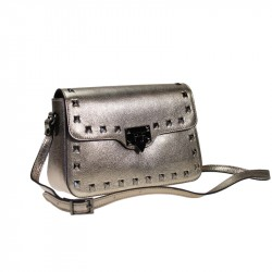Sauvage leather crossbody bag - with studs