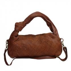 Vintage woven leather bag