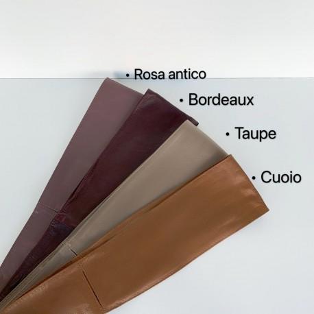 Leather band belt