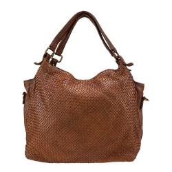 Vintage gewebte Lederhandtasche