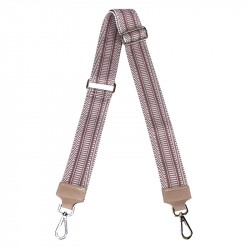 Shoulder strap in canvas and leather