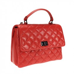 Handbag in quilted leather