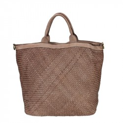 Woven leather vintage bag