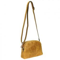 Croc' print Crossbody leather bag