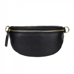 small simple leather belt bag