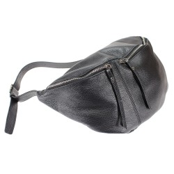 Maxi size unisex pouch leather bag