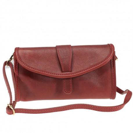 Clutch bag with shoulder strap