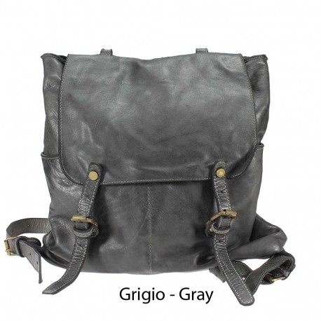 Leather bag backpack