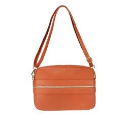 Shoulder bag in smooth leather