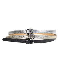 Laminated leather belt